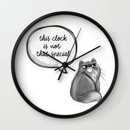 indifferent Cat Wall Clock
