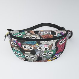 Gemstone Owls Fanny Pack