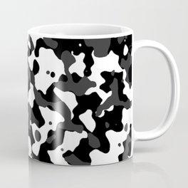 Camouflage Black and White Coffee Mug