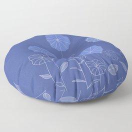 soft blue flowers Floor Pillow