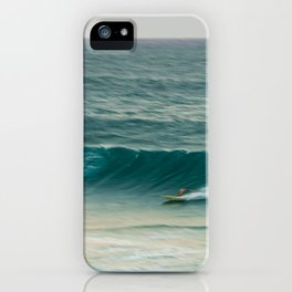 Surfer in Burleigh Heads iPhone Case