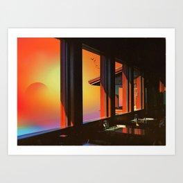 Psilocybin sky Art Print