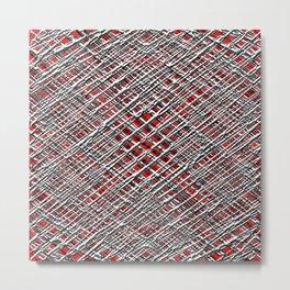 Red Crossed Wires Metal Print