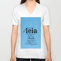 leia V-neck T-shirts featuring Leia by KimberosePhotography