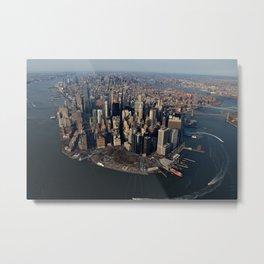 Manhattan Aerial Color Metal Print