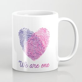 We are one - Valentine love Coffee Mug