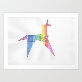 Origami Unicorn - Blade Runner Art Print