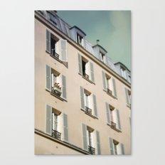 Red Flowers in Paris Canvas Print