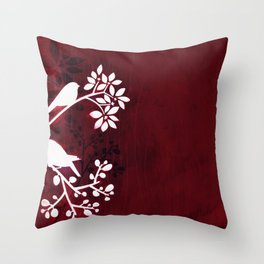 Perching Birds by Friztin Throw Pillow