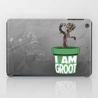 groot iPad Cases featuring Baby Groot by Variable