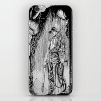 indiana jones iPhone & iPod Skins featuring Indiana Jones and the Temple of Doom by Meredith Mackworth-Praed