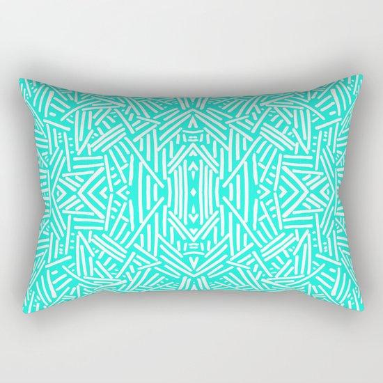 Radiate (Mint) Rectangular Pillow