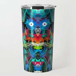 Neon Owl Avatar Travel Mug