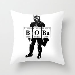 Boba Throw Pillow