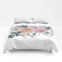 Fall Flowers + Leaves Comforters