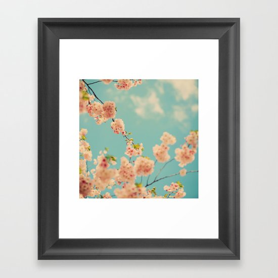 Splash of Pink Framed Art Print