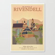 Retro Travel Poster Series - The Lord of the Rings - Rivendell Canvas Print