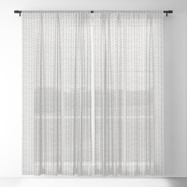 Seamless french farmhouse woven linen stripe texture.  Sheer Curtain