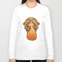 nouveau Long Sleeve T-shirts featuring Daisy Nouveau by Megan Lara