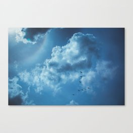 Rainbow in the Clouds Canvas Print