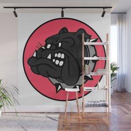 Black Bulldog Wall Mural