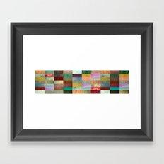 Blocks Framed Art Print