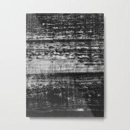 Dark Rustic Wood Metal Print