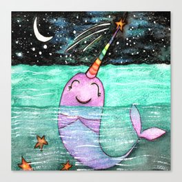 Narwhal Wish Canvas Print