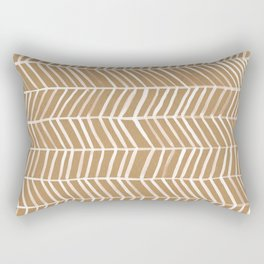 Kraft Herringbone Rectangular Pillow