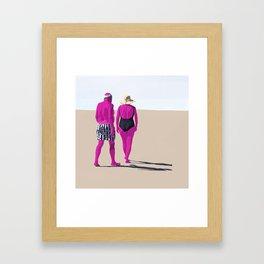 De espaldas Framed Art Print