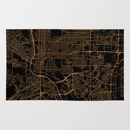 Colorado Springs map, Colorado Rug