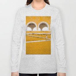 Colonial Mexico, Izamal in Yellow #buyart #society6 #decor Long Sleeve T-shirt