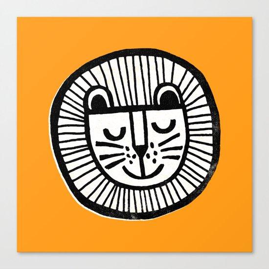 HAPPY LION Canvas Print