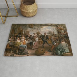 The Dancing Couple - Jan Steen Rug