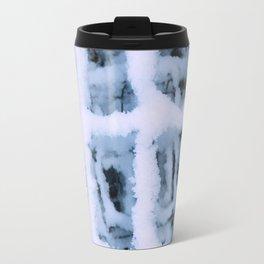 Snow Pattern Metal Travel Mug
