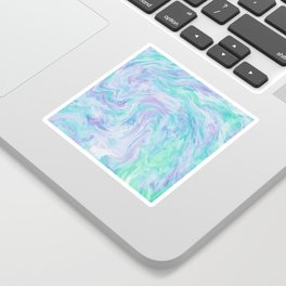 Turquoise Fantasy Marble Sticker