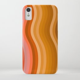 Groovy Wavy Lines in Retro 70s Colors iPhone Case