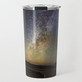 Grand Prismatic Spring Under The Milky Way Travel Mug