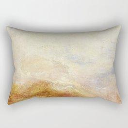 A mountain scene by Joseph Mallord William Turner, 1845 Rectangular Pillow
