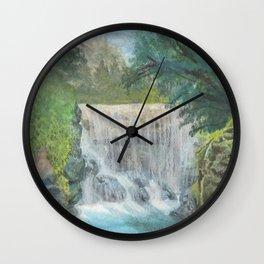 Bright Lagoon. Wall Clock