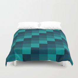 Ocean Waves - Pixel patten in dark blue Duvet Cover