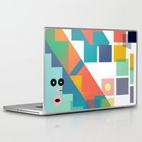 lsd Laptop & iPad Skins featuring Gumby Does LSD by Mike•Long