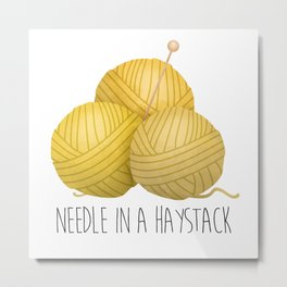 Needle In A Haystack Metal Print