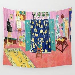 Henri Matisse The Pink Studio Wall Tapestry