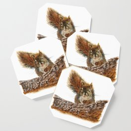 Cheeky the Red Squirrel by Teresa Thompson Coaster
