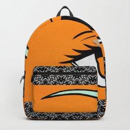 Eye orange 4 Backpack