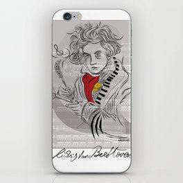 Beethoven in musica iPhone Skin