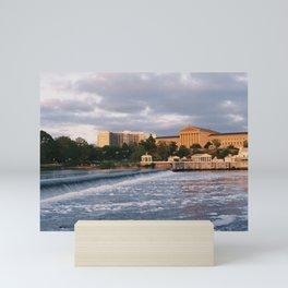 philadelphia sunset Mini Art Print