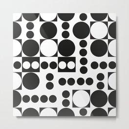 Exaggerated Dots and Circle Metal Print
