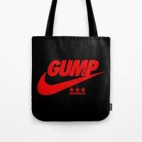 forrest gump Tote Bags featuring Gump- JustDoIt III by IIIIHiveIIII